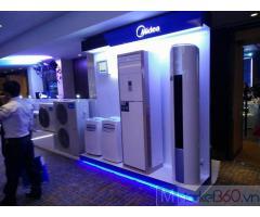 Đơn vị tại TPHCM chuyên thi công Máy lạnh tủ đứng đặt sàn Midea giá bình dân