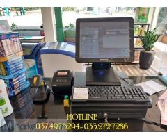 Combo máy tính tiền cho Cửa hàng tạp hóa- bách hóa tại Vĩnh Long