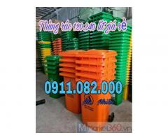 Thùng rác giá rẻ hàng nhập khẩu- thùng rác 120 lít 240 lít giá thấp tại vĩnh long-