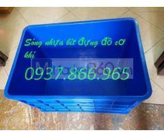 Sản xuất thùng nhựa đặc, sóng nhựa bít, thùng nhựa dùng trong phân xưởng