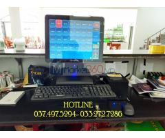 Bán trọn bộ máy tính tiền cảm ứng cho Nhà hàng hải sản tại Ninh Bình