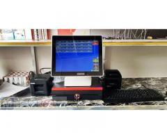 Trọn bộ máy tính tiền cảm ứng cho Quán Lẫu- Nướng tại Cần Thơ