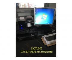 Lắp đặt trọn bộ máy tính tiền cho tiệm Trà chanh tại Long An