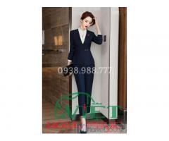 Công ty may áo vest nữ đồng phục chất liệu cao cấp, form chuẩn Quốc tế