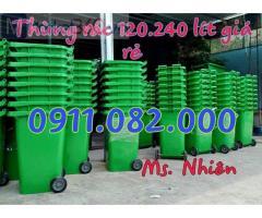 Cung cấp thùng rác nhựa 120L 240L giá rẻ, thùng rác y tế đạp chân, thùng rác công nghiệp-