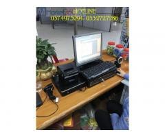 Lắp đặt bộ máy tính tiền bằng mã vạch cho Siêu thị tiện lợi tại Long An