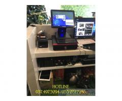 Trọn bộ máy tính tiền cảm ứng 1 màn hình cho quán Trà chanh tại Phú Yên