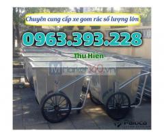 Xe gom rác di động, xe gom rác bằng tôn giá rẻ, xe đựng rác thải, xe gom rác tôn giá rẻ