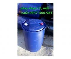 Thùng phuy đựng rác ngoài đồng, thùng phuy đựng hóa chất, thùng phuy làm bè(thùng phuy nhựa cũ, mới)