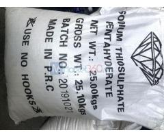 Sodium thiosulphate pentahyderate (Na2S2O3) – P.R.C/Trung Quốc