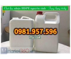 Can nhựa chuyên hóa chất, can nhựa 5L đựng axit, can nhựa HDPE