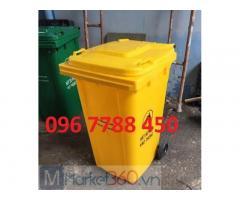 Thùng rác nhựa môi trường 240 lít giá rẻ giao toàn quốc