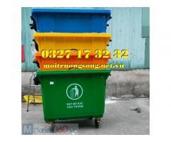 Thùng rác 660 lít - xe đẩy rác 660 lít nhựa HDPE giá rẻ