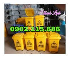 Thùng rác y tế, thùng rác y tế đạp chân, thùng rác y tế có nắp đậy, thùng rác nhựa HDPE nguyên sinh, thùng rác