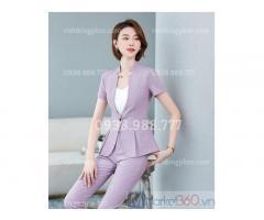 Xưởng nhận may áo vest nữ công sở mẫu mã đẹp, chất lượng bền đẹp