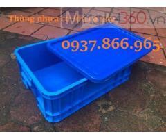 Khay nhựa dùng trong ngành công nghiệp nặng, khay nhựa công nghiệp màu xanh