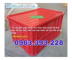 Thùng nhựa đặc cao 31, thùng nhựa có nắp, thùng nhựa HS019, nhựa đặc cao cấp