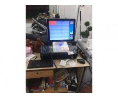 Trọn bộ máy tính tiền cảm ứng giá rẻ cho Quán ăn- Tiệm mỳ tại Hậu Giang