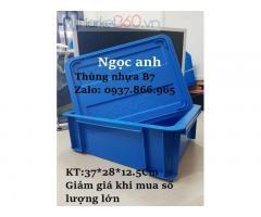 Thùng nhựa B7, thùng nhựa đặc, thùng nhựa có nắp