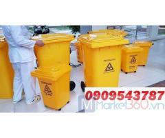 Thùng rác y tế dùng cho khu cách ly