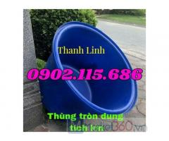 Thùng nhựa tròn lớn, thùng nhựa hình chữ nhật, thùng nhựa nuôi cá, thùng nhựa trồng sen, thùng trồng cây...
