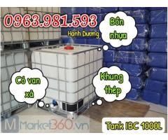 Bồn nhựa IBC 1000L,tank nhựa đựng hóa chất