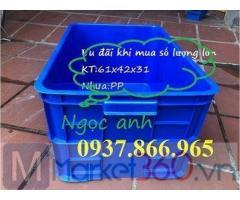 Thùng nhựa đặc có nắp , thùng nhựa công nghiệp tại bắc ninh, thung nhua co nap