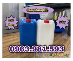 Can HDPE 10L, can nhựa đựng hóa chất