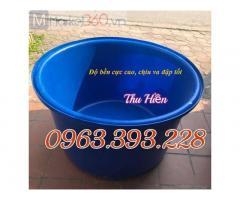 Thùng nhựa tròn giá rẻ, thùng tròn dung tích lớn, bể nhựa trồng cây, thùng nuôi hải sản