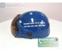 Mũ bảo hiểm in logo. Hình thức quảng bá thương hiệu doanh nghiệp hiệu quả