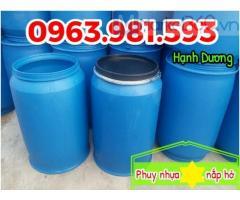 Phuy nhựa nắp hở,thùng phuy nhựa HDPE