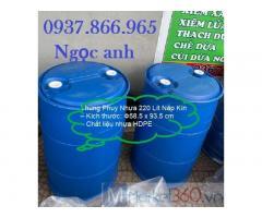 Bán phuy nhựa 220l, cung cấp thùng phuy số lượng lớn, thùng phuy tại miền bắc