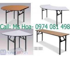 Bàn ghế nhà hàng, bàn tròn gấp chân, bàn ghế banquet
