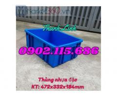 Thùng nhựa đặc, sóng nhựa bít, thùng nhựa B3, thùng đựng link kiện, phụ kiện, sóng nhựa bít B3.