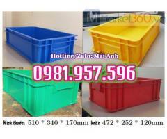 Hộp nhựa công nghiệp có nắp, thùng nhựa đặc có nắp đậy