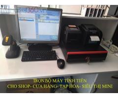 Trọn bộ máy tính tiền bằng mã vạch cho Shop quần áo tại Tuyên Quang