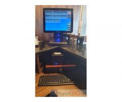 Lắp đặt tận nơi máy tính tiền cảm ứng cho quán Coffee tại Phú Yên
