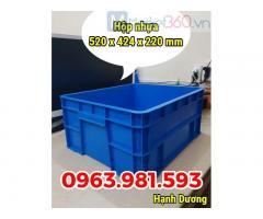 Hộp nhựa công nghiệp B8,thùng nhựa đặc