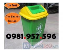 Thùng rác composite 60L, thùng rác composite 90L