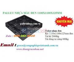 Pallet Nhựa Đen KT 1100 x 1100 x 150 (mm)