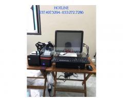 Trọn bộ máy tính tiền cảm ứng cho Quán nước mát- Rau má tại Hưng Yên