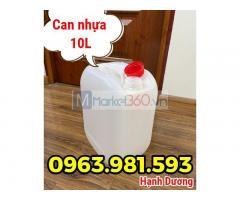 Can nhựa HDPE 10L, can nhựa có seal chống tràn