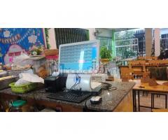 Lắp đặt máy tính tiền cảm ứng trọn bộ cho quán Trà sữa tại Quảng Bình
