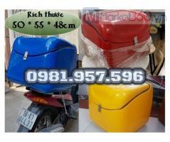 Thùng chở hàng trên xe máy, thùng giao hàng trên xe máy