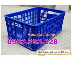 Sọt nhựa rỗng giá rẻ, sọt nhựa cao 25, sọt nhựa hở