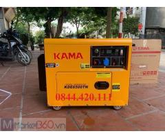 Máy phát điện 5kw Kama cách âm, đề nổ giá tốt.