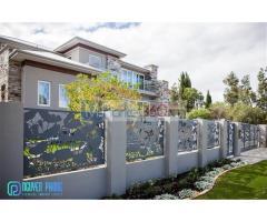 Mẫu tường rào biệt thự, hàng rào sắt CNC sơn tĩnh điện bền - đẹp