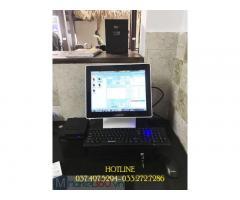 Trọn bộ máy tính tiền cảm ứng cho Homestay- Khách Sạn tại Hưng Yên