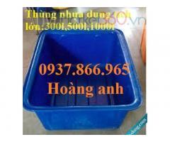 Bán thùng nhựa trồng sen, thùng nhựa nuôi ốc, thùng nhựa dung tích lớn