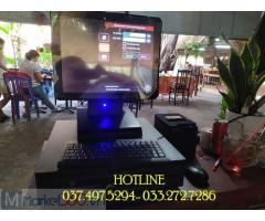 Bộ máy tính tiền cảm ứng cho Quán ăn gia đình tại Ninh Bình